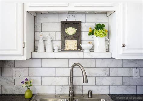 marble tile kitchen backsplash large white subway marble kitchen backsplash tile with 7374