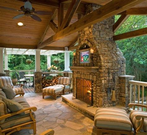 outdoor rooms with fireplaces never rush ranch february 2012