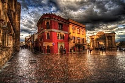 Cordoba Spain Wallpapers Street Houses Town Square