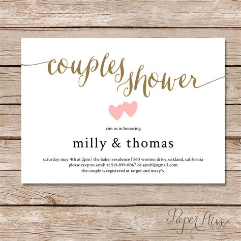 Bridal Shower Invitations Free - couples shower invitation couples wedding shower invite