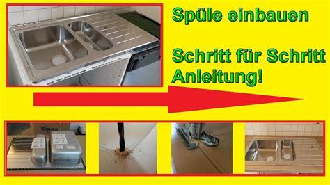 Küchenspüle Einbauen  Spüle In Arbeitsplatte Einsetzen