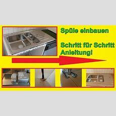Küchenspüle Einbauen  Spüle In Arbeitsplatte