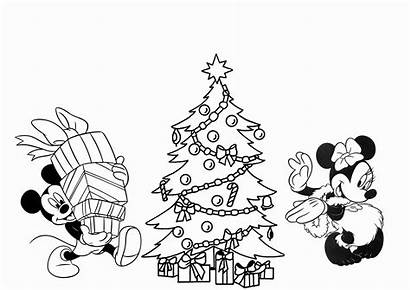 Coloring Christmas Pages Disney Printable Tree Getcolorings