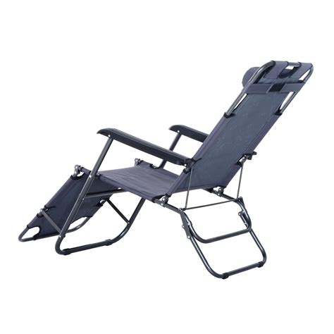 outsunny folding lounge chair chaise portable recliner sun