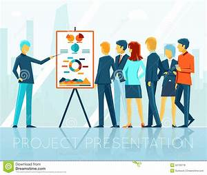 Business Meeting, Project Presentation Stock Vector ...