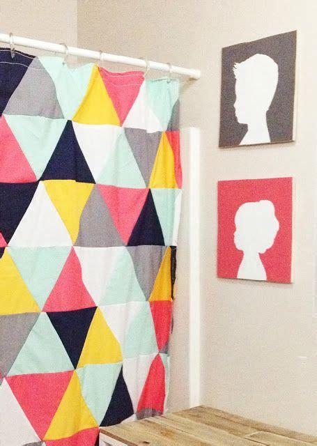 shower curtain diy triangle shower curtain diy crafts