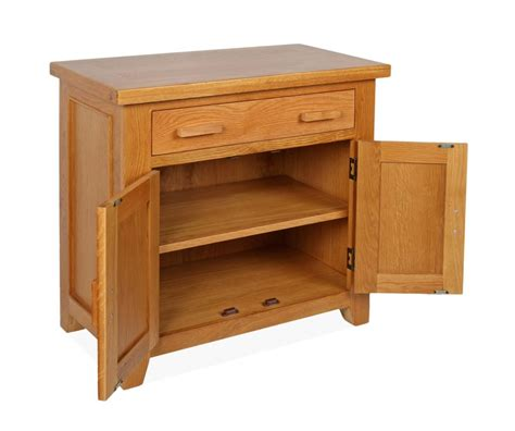 Mini Sideboard by Canterbury Oak Mini Sideboard With 2 Door And 1 Drawer