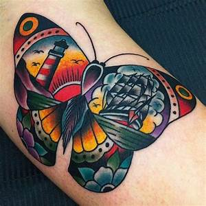 Traditional Butterfly Tattoo | Traditional Tattoos ...