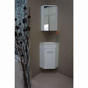 Lavabo Pour Toilette : praya lena meuble d 39 angle pour lavabo wc 50x85x25cm avec 1 ~ Edinachiropracticcenter.com Idées de Décoration