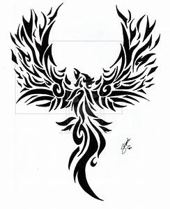 Fire Phoenix Tattoo Designs | fantastic tribal phoenix ...