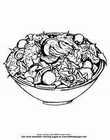 Salad Coloring Drawing Colouring Pages Fruit Printable Sheets Sketch Pencil Menu Salads Realistic sketch template