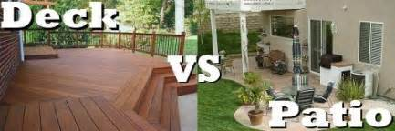 smart home interior design the great debate deck versus patio totally home