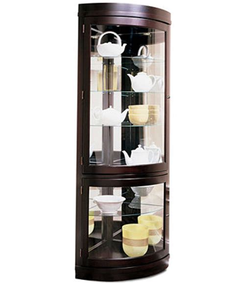 Macys Corner China Cabinet contemporary curved corner curio cabinet furniture macy s