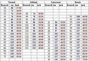 Hosengrößen herren tabelle