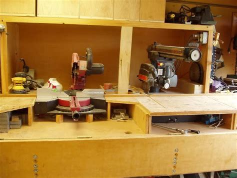 miter  station height radial arm  table radial