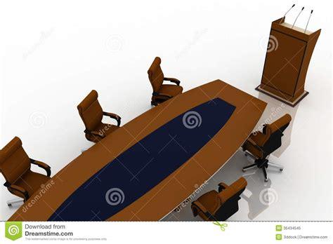 le bureau moderne tableau de conférence avec les chaises vides pour le