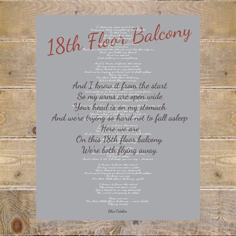 Blue October 18th Floor Balcony by Blue October Blue October Lyrics 18th Floor Balcony Lyrics