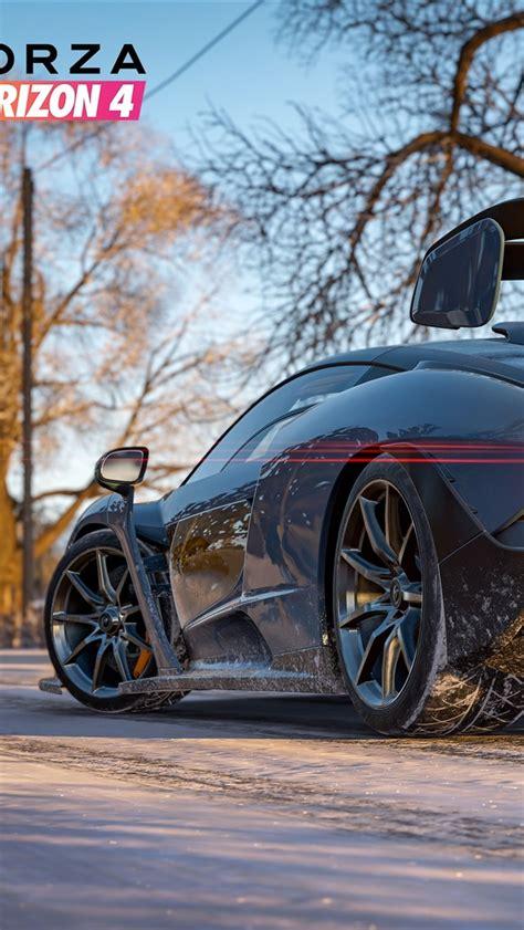 wallpaper forza horizon  mclaren supercar rear view