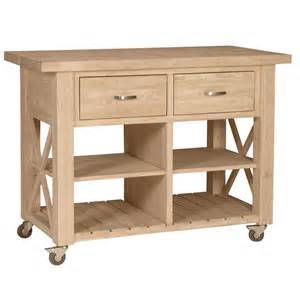 Wheeled Kitchen Island X Side Rolling Kitchen Island With Butcher Block Top