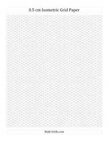 Printable Isometric Graph Paper Grid