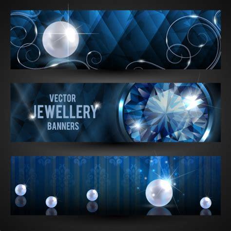 luxury jewelry banner vector  vector  encapsulated