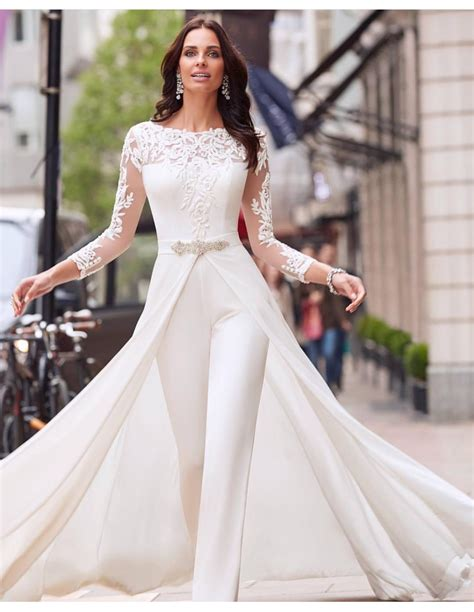 40 jumpsuit wedding dresses ideas 43 fiveno