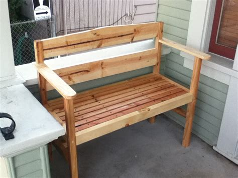 white garden bench on a diet diy projects