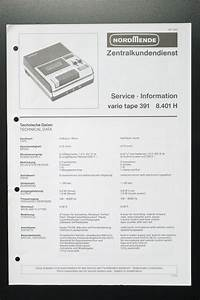 Nordmende Vario Tape 391 Original Service Manual  Guide