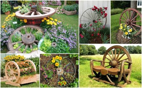 Amazing Wagon Wheel Garden Decorations That Will Surprise You