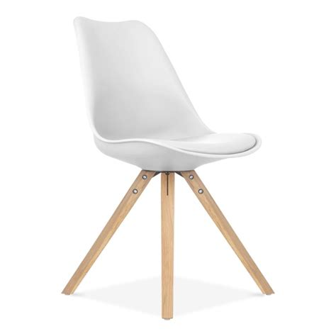 chaise eames blanche chaise design eames inspired blanche avec pieds en bois