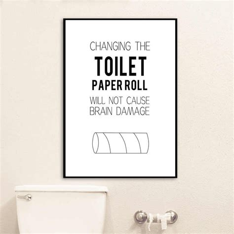 Bathroom Quotes Uk by Quote Toilet Paper Brush Teeth Bathtub Wall