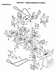 Craftsman Parts On The Mower Deck Diagram For 917 250550