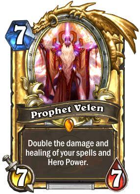 prophet velen deck loe prophet velen priest card hearthstone