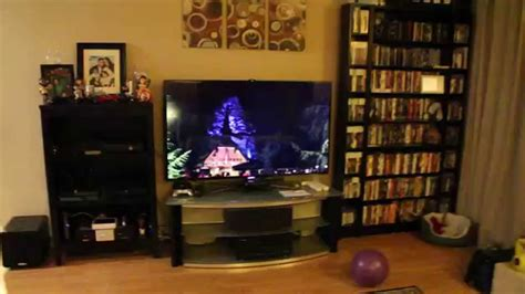 My Gaming Living Room by Gaming Setup Tour In My Livingroom Time