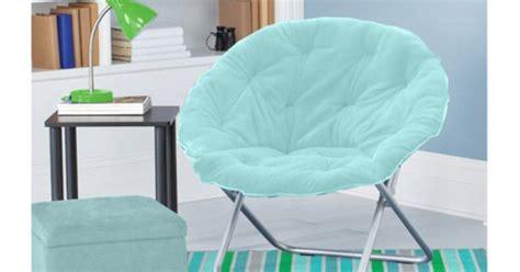 Mainstays Faux Fur Saucer Chair Aqua by Mainstays Faux Fur Saucer Chair Colors