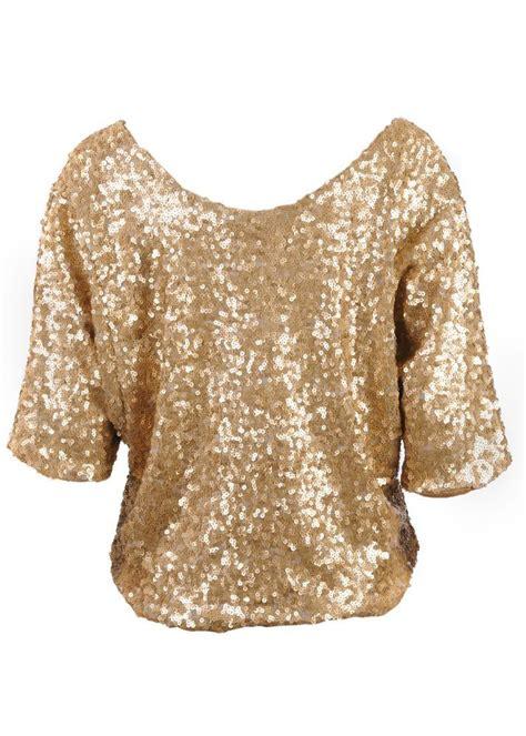 gold blouse sequin tops home tops crop vila