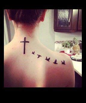 cross  birds tatt tattoos tattoos cute tattoos