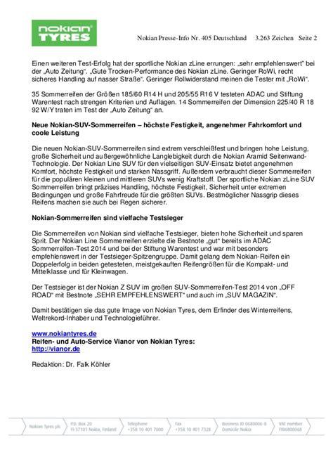 adac test siege auto nokian ist testsieger im adac sommerreifen test 2015
