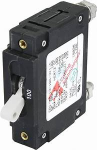 C-series White Toggle Circuit Breaker