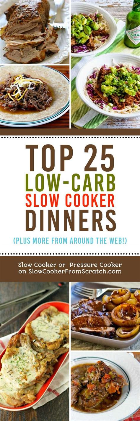 best low carb dinners the top 25 low carb slow cooker dinners slow cooker or pressure cooker