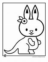 Kangaroo Coloring Cute Baby Pages Drawing Clipart Kangaroos Draw Animal Hamster Getdrawings Panda Library Popular sketch template