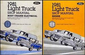 1981 Ford F100 F150 F250 F350 Pickup Truck Foldout Wiring Diagram