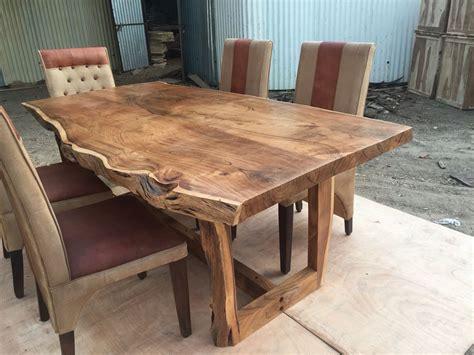 sundara  edge table solid wood  edge dining