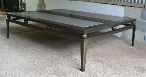 table basse industrielle bois metal made to measures steel and wood coffee table