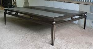 Table Basse Bois Acier : table bois pieds metal maison design ~ Teatrodelosmanantiales.com Idées de Décoration