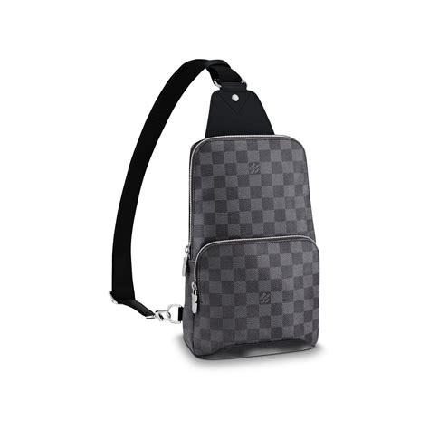 avenue sling bag damier graphite canvas mens bags louis vuitton