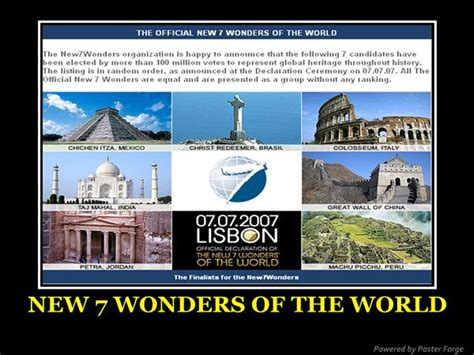 new 7 wonders of the world