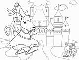 Bouncy Castle Bounce Coloring Template sketch template