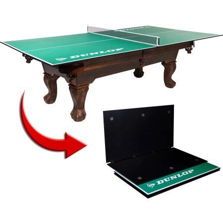 ping pong conversion top for 9 pool table dunlop 4 piece table tennis conversion top includes net