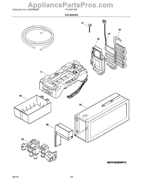 Parts For Frigidaire Ffhbppa Ice Maker